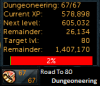 Level 67 #Roadto80Dungeoneering